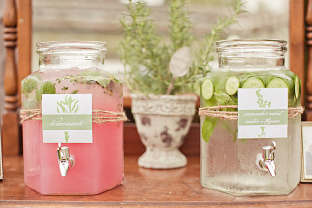 Glass jars - Drinks dispenser _ Quirky Parties
