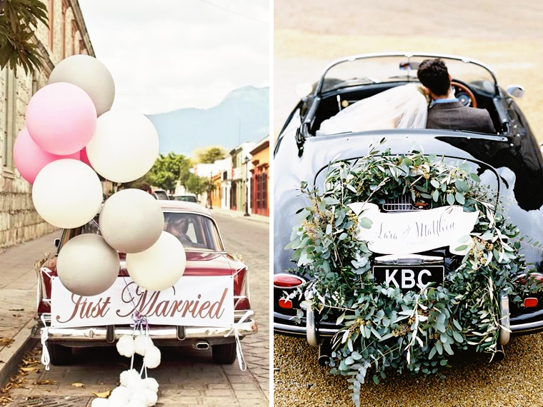 Quirky Parties Car Decor Balloons Floral Flowers