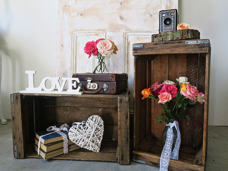 QuirkyParties - Rustic Crates