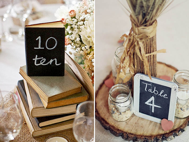 QuirkyParties Table Number Inspiration - Chalkboard