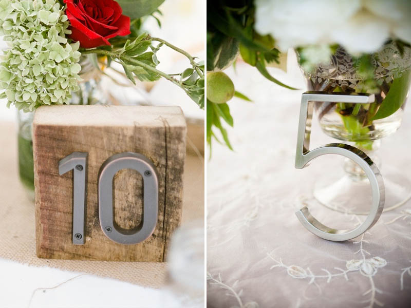 QuirkyParties Table Number Inspiration - Metal 1