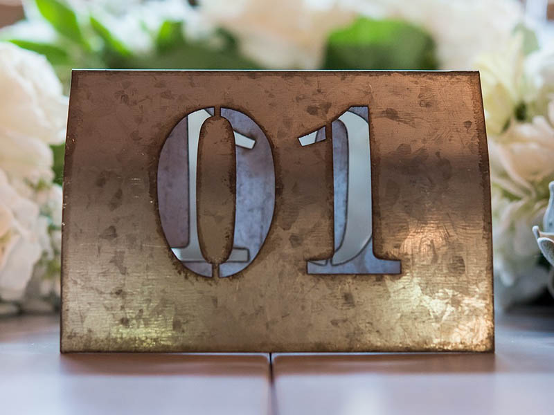 QuirkyParties Table Number Inspiration - Metal 2