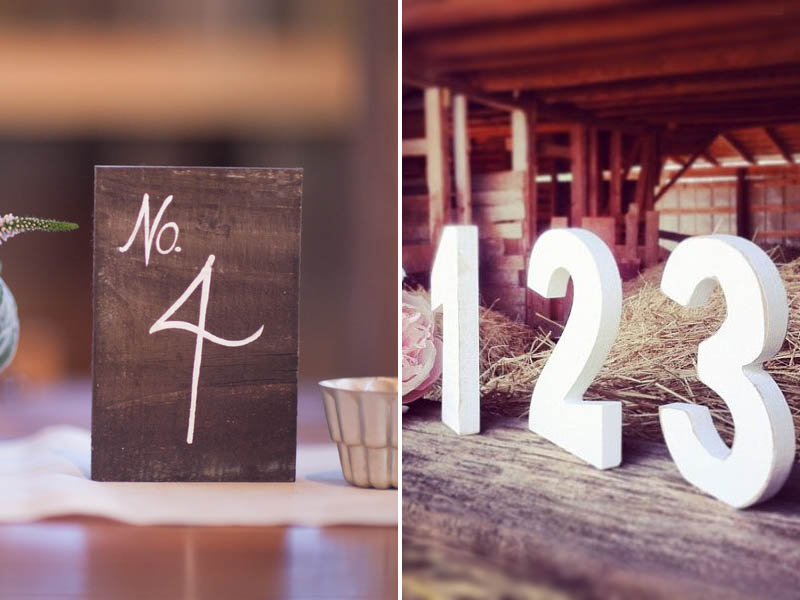 QuirkyParties Table Numbers - Wood