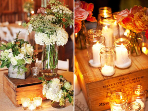 Quirky Parties - Wood Crate Centerpiece