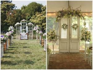 Vintage Doors as Wedding Decor