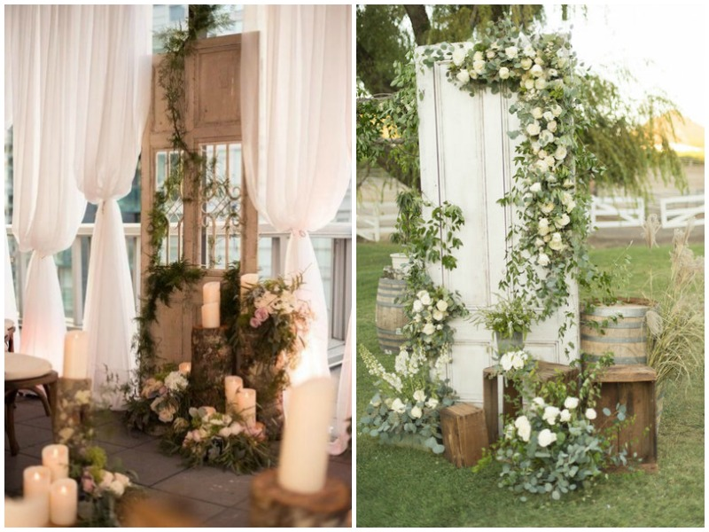Vintage doors wedding backdrop - Quirky Parties