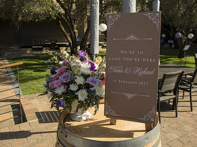 wedding decor and flowers - Durbanvilee hills wine estate
