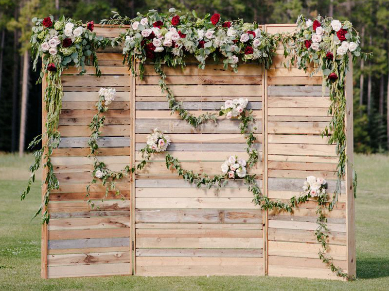 Wedding Backdrops Arches - Rustic Wooden Backdrops