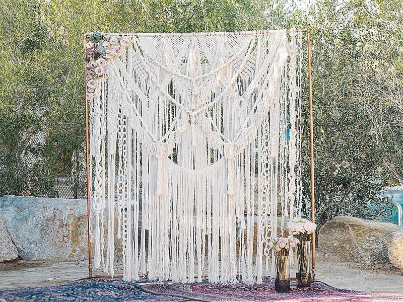 Wedding Backdrops Archs - Macrame