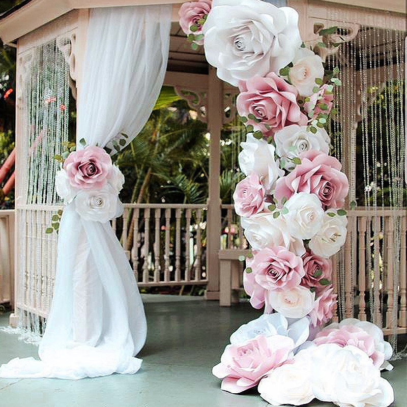 Wedding Backdrops Arches - Paper Flowers