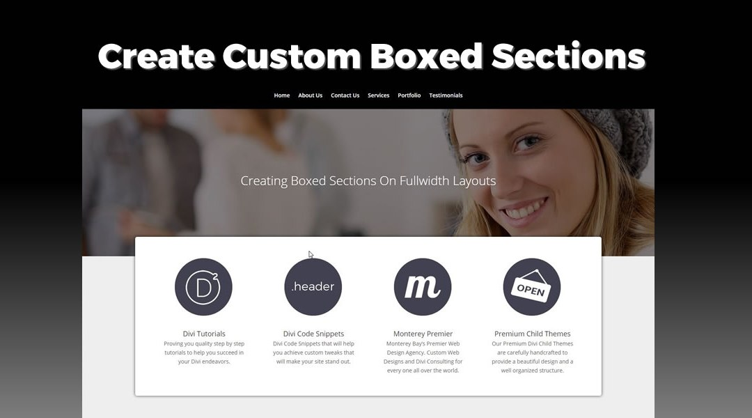 Creating a Boxed Section On Fullwidth Layouts