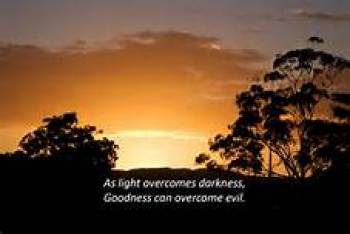 Scenic sky: As light banishes darkness, good overcomes evil
