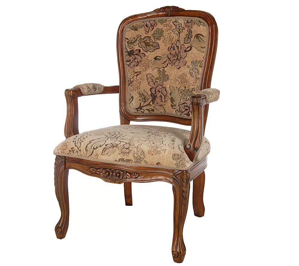 Thomas Pacconi Hand Carved Upholstered Queen Anne Arm Chair Queen Anne Armchair54