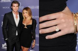 Small Of Miley Cyrus Engagement Ring