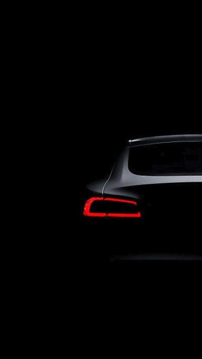 Tesla Model S Dark Brake Light iPhone 8 Wallpaper Download ...