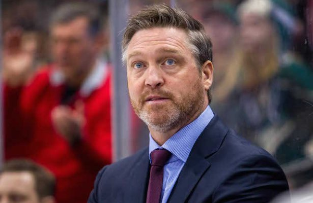Feb 7, 2015; Saint Paul, MN, USA; Colorado head coach Patrick Roy in the first period against the Minnesota Wild at Xcel Energy Center. The Minnesota Wild beat the Colorado Avalanche 1-0. Mandatory Credit: Brad Rempel-USA TODAY Sports