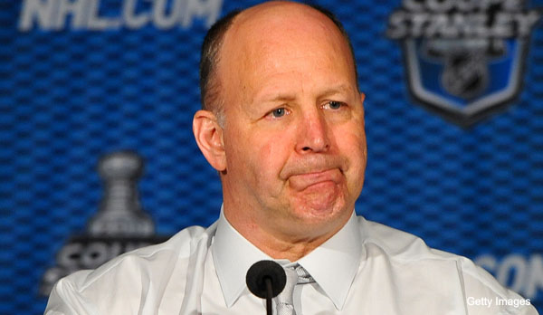 MONTREAL, CANADA - APRIL 26: Headcoach of the Boston Bruins Claude Julien at the post game press conference after Game Six of the Eastern Conference Quarterfinals during the 2011 NHL Stanley Cup Playoffs at the Bell Centre on April 26, 2011 in Montreal, Quebec, Canada.   (Photo by Francois Lacasse/NHLI via Getty Images) *** Local Caption *** Claude Julien;