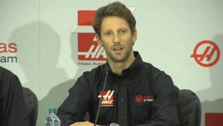 Haas præsenterer Romain Grosjean - Screendump Haas F1