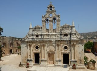 The church at Alkadi monastery in Crete