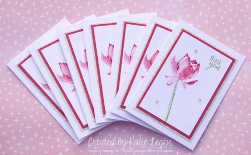 Rousing Stampin Up Easy Strawberry Slush Lotus Blossom Thank You Notecards Set Created By Katie Legge Rachelleggestampinup Wordpress Com Easy Note Cards Respiratorty Easy Note Cards By Powell
