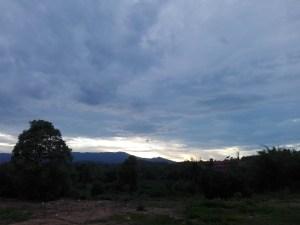 Sonnenuntergang ueber Chiang Khong