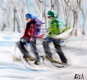 Snow Shoeing by Scott Kish