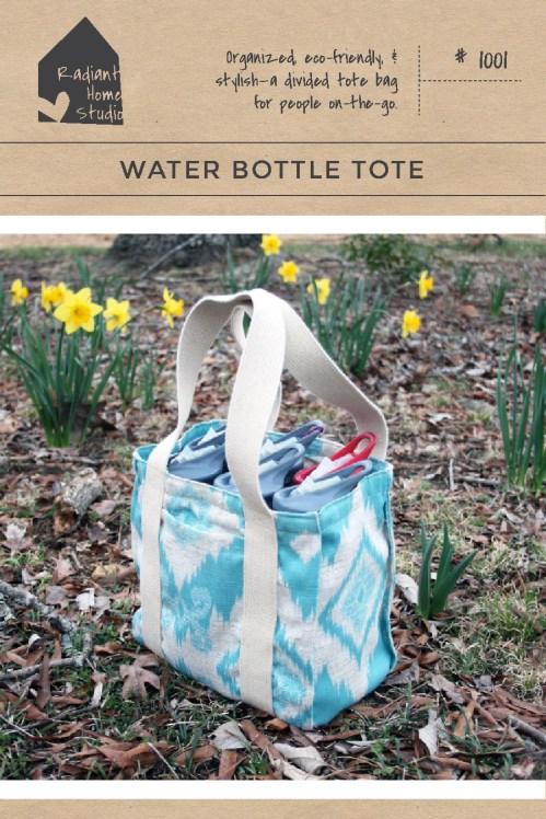 Water Bottle Tote Pattern   Radiant Home Studio