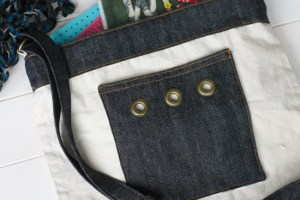 Denim Pocket With Grommets {Tote Bag Upgrade}