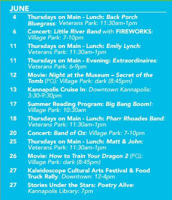 kannapolis events for june 2015