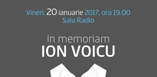 In memoriam Ion Voicu afis