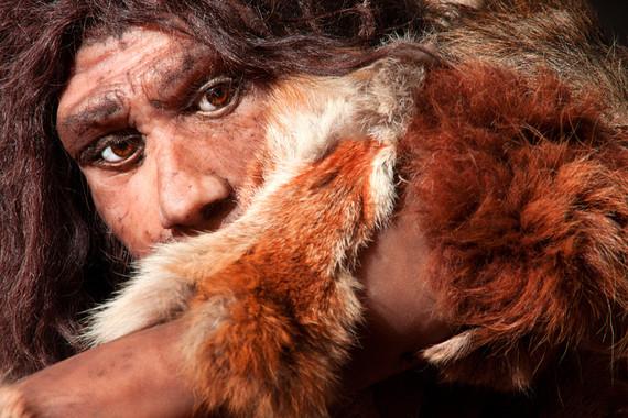 Reconstrucción de un hombre neandertal. Imagen: Fotolia