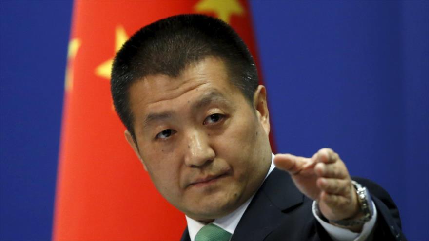 El portavoz de la Cancillería china, Lu Kang.