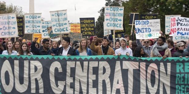 Protesta frente a la Casa Blanca para pedir acción climática. EFE/Michael Reynolds