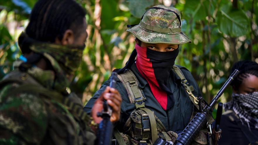 Integrantes del grupo guerrillero Ejército de Liberación Nacional (ELN) de Colombia, fotografiados el 2 de febrero de 2017.