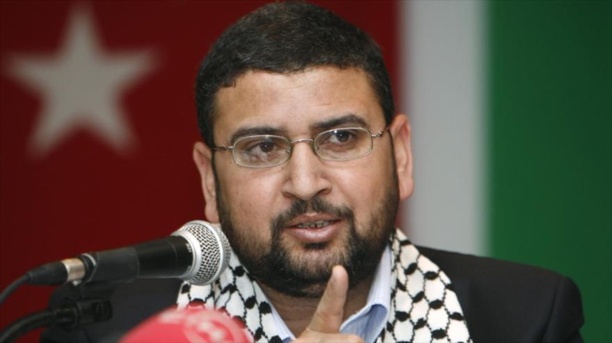 El portavoz del Movimiento de Resistencia Islámica Palestina (HAMAS), Sami Abu Zuhri.