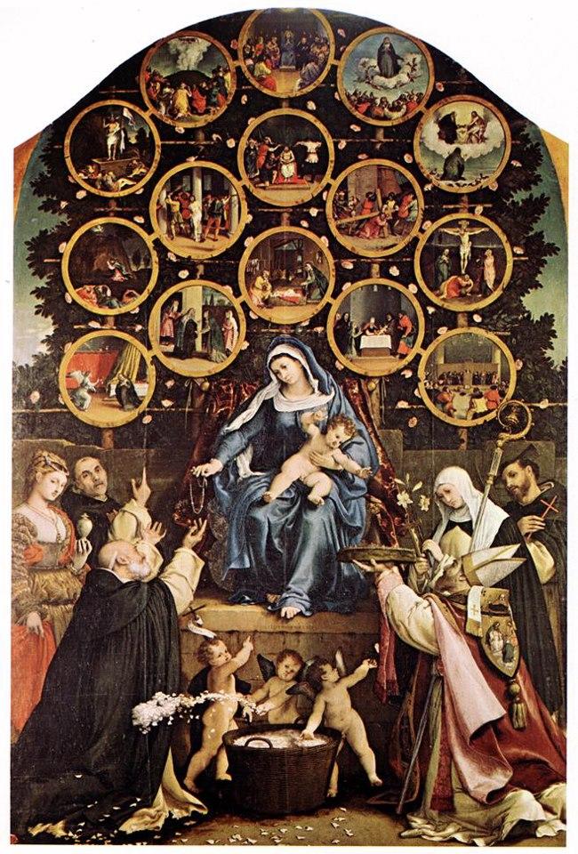 Lorenzo Lotto - Madonna del Rosario