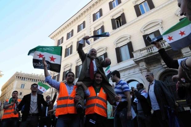 Nour Dachan a una manifestazione