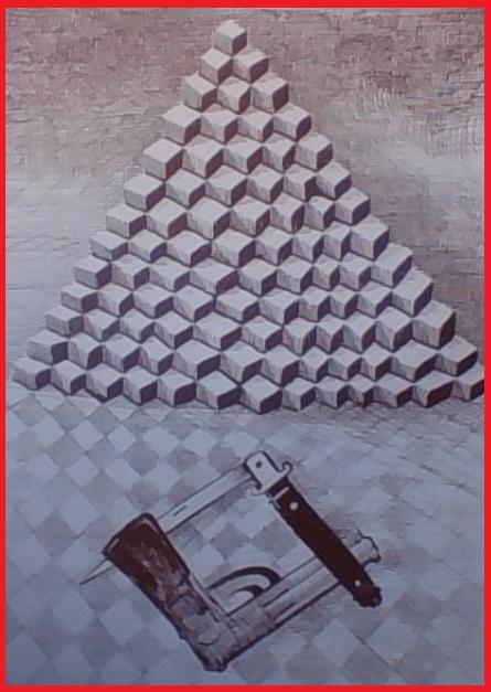 """[raffigurazione di Enzo Patti tratta da p.64 di """"Osso, Mastrosso e Carcagnosso"""", di Vincenzo Macrì, edito da Rubettino]"""