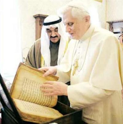 J. Ratzinger: chi non stima i musulmani è malvagio, bene le istituzioni islamiche