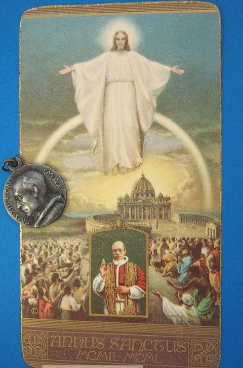 vintage_catholic_medal_pope_pius_xii__1950_holy_year_holy_card_jesus_vatican_1_lgw