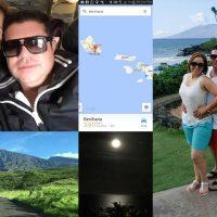 Jorge Medina y su Esposa de Paseo en Hawai