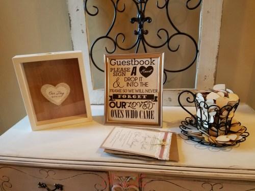 Shadowbox guestbook heart
