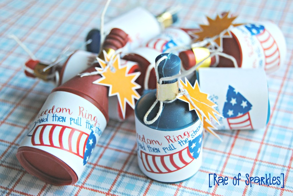 4th of July Party Favors - Firecrackers