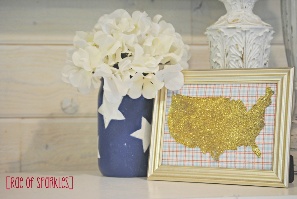 DIY 4th of July Framed Map of USA