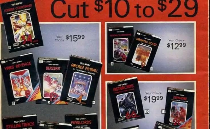Catálogo de Games da SEARS de 1983