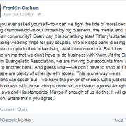 Franklin Graham asks us Where Would Jesus Bank?