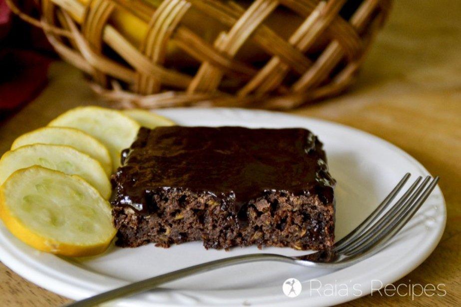 Summer Squash Chocolate Sheet Cake