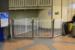 That was quick: Flagstaff station overflow gate already fitted with FPDs