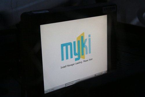 Myki 'Melbourne Install Manager' starting up