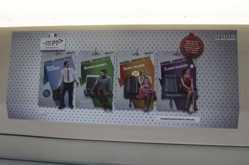 Poster for the new PTV 'Model Commuters' campaign
